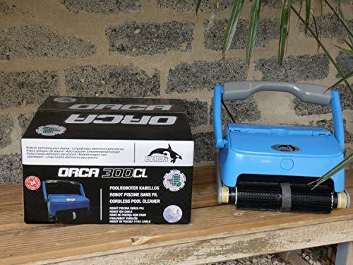 EDENEA Orca 300 CL - Robot Piscine Electrique sans Fil - sur Batterie - Nettoyage Fond + Paroi + Ligne d'eau - Autonome - Compatible Tout Revêtement - Double Panier De Filtration