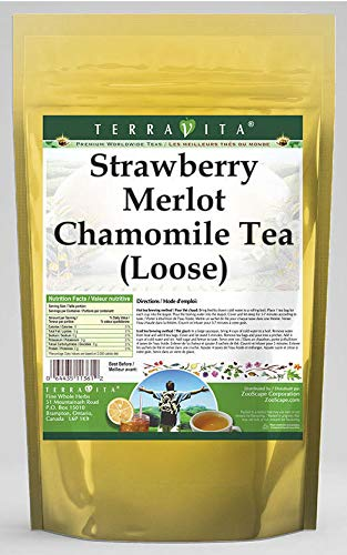 Strawberry Merlot Chamomile Tea Loose 8 - oz 2 542008 Ranking TOP9 Large special price !! ZIN: