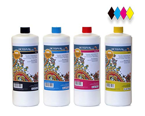 4x 100 ml Sublimatie-inkt, Sublimation Ink voor Epson, Brother, Roland, Mimaki, Mutoh, CMYK