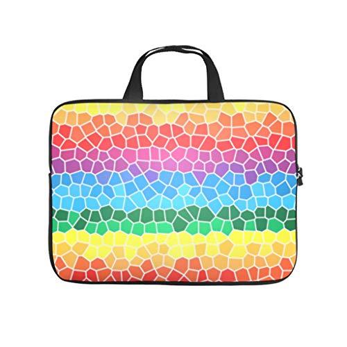 Rainbow Lattice Laptop Bag Multifuntional Super Lightweight Laptop case Sleeve Computer Carry Bag for Work Study for Men Women White 10 Zoll