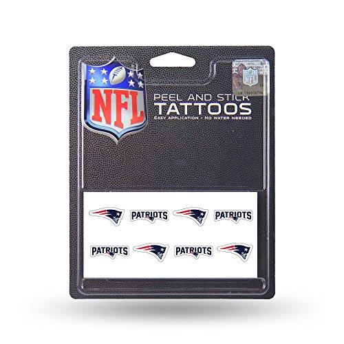 New England Patriots 8-Pack Waterless Temporary Tattoos