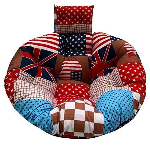 QUUY Cojín para sillón colgante grueso, algodón suave, con cojín, cojín para silla balancín, cojín para asiento balancín, cojín de asiento de columpio, cojín para exterior e interior, 100 x 100 cm, D
