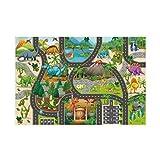 CHAOQUN Alfombra de juego infantil con diseño de dinosaurios para el aprendizaje de animales y palabras, para habitación de los niños, sala de juegos, guardería