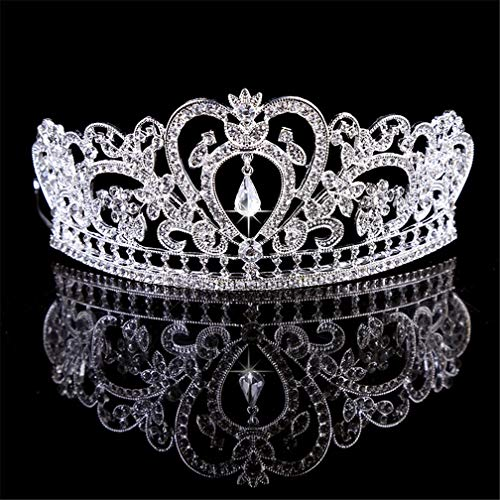 DSGYZQ Bridal Wedding Flower Crown Crown Tocado Crown Crown Diadema Accesorios para el Cabello para Las Mujeres Cumpleaños Crown Joyería,3