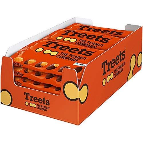 16 Beutel a 100g Treets The Peanut Company a 100g Erdnüsse mit Schokolade umhüllt