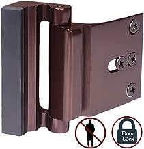 Door Lock Child Proof, Home Security Door Reinforcement Lock Withstand 800 lbs Door Latch Double Safety Security Protection for Your Home (Bronze Door Security Lock)