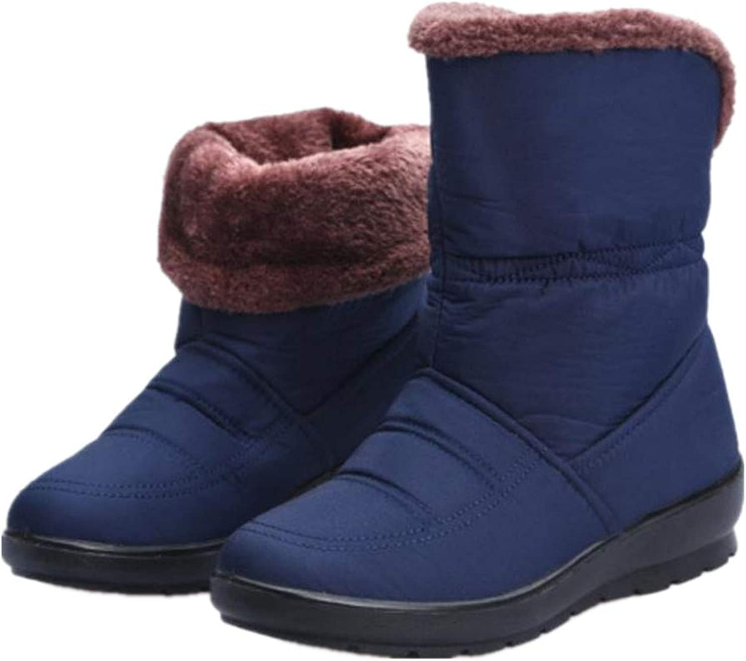 Winter Boots for Women Water Resistant Anti-Slip Fur Lined Snow Boot