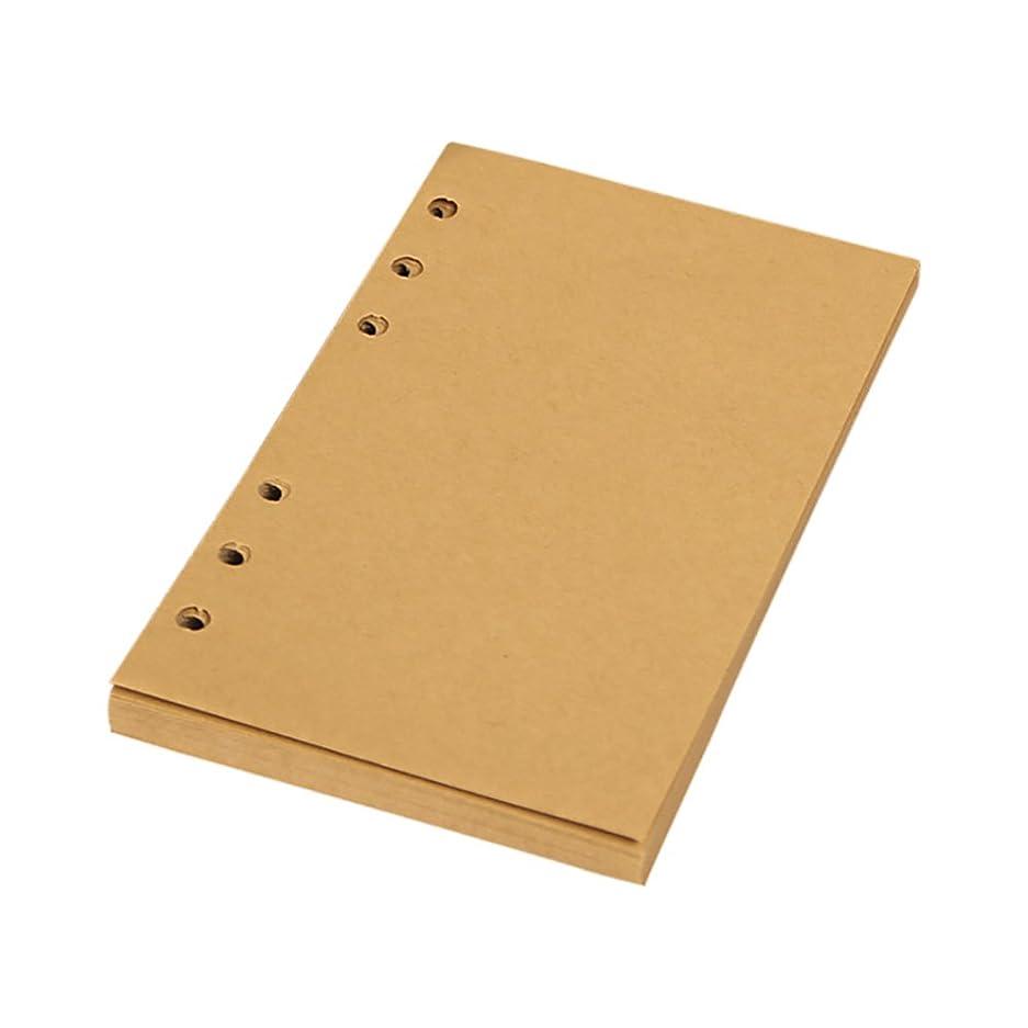クラッシュジョットディボンドン侵入標準6穴補充可能手帳リフィル 手帳リフィルノート 80枚 A6- クラフト紙 空白