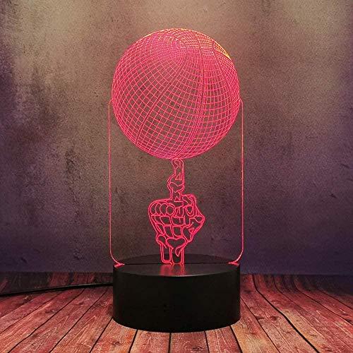 3D Led Luz De Noche Lámpara De Tabla Para Decoración Del Hogar Baloncesto 7 Colores Touch Sensor Lámpara Cargador Usb Dormitorio Decoración Regalo De Cumpleaños Para Niños
