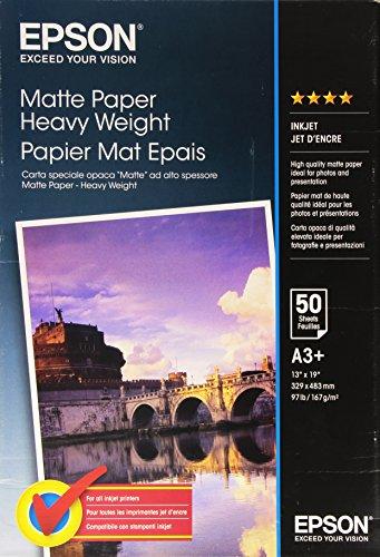 Epson C13S041264 Matte heavyweight Paper Inkjet 167g/m2 A3+ 50 Blatt Pack