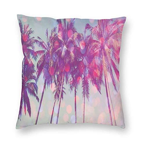 Fleeting Art Studio Palm Trees - Fundas de cojín cuadradas para sofá, decoración de vacaciones, 40 x 40 cm, 3 unidades