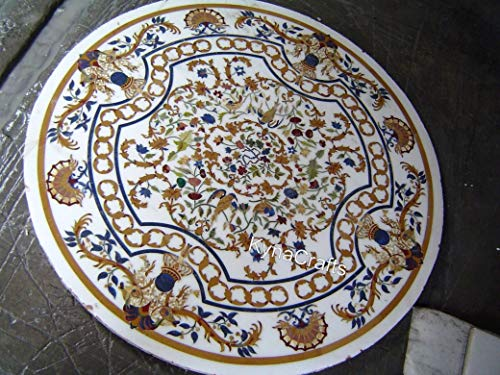 60 x 60 Inches Round Shape Dinette Table Top Beautiful Conference Table Top with Royal Look from Ancient Crafts