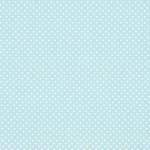 CRELANDO® Textil-Klebefolie für Möbel und Schreibwaren, 30 x 100 cm *selbstklebend (hellblau gepunktet)