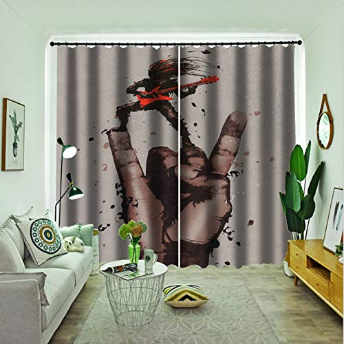 Oukeep 3D Super Blackout Curtains European Fashion Home Decoration Curtain Suitable For Curtains In Hotels, Bedrooms And Shopping Malls 2 Pieces