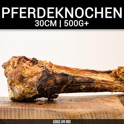 George & Bobs Pferdeknochen - 1Stk. | ca.35cm 500g+ | Hohe Qualität | Kausnack | Hunde | Allergiker | Naturkausnack