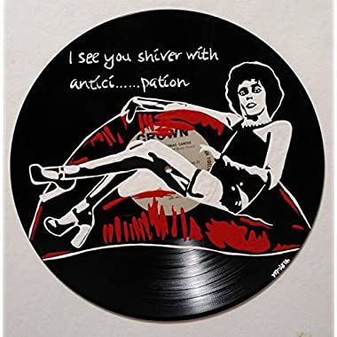 Hand painted Dr. Frankenfurter the rocky horror picture show vinyl record wall art