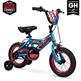 Huffy 12 inch Spider-Man Kid Bike Web Plaque Quick Connect, Red