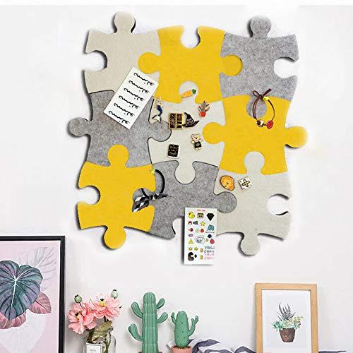 Filz-Pinnwand aus Kork, Set von Wand, Puzzle-Form, Pinnwand aus EVA-Kunststoff, selbstklebend, um Fotos Memos Display Board Pads Bilder Zeichnen Ziele Notizen bunte Schaumstoffwand dekorativ