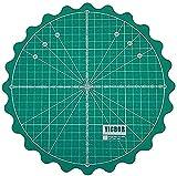 Yicbor, tappetino rotativo auto-guarigione per ufficio, materiale scolastico, trapuntatura, artigianato, argilla, artigianato artistico Verde (grande)