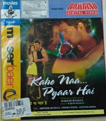 Affordable Kaho Naa... Pyaar Hai 2000~ Bollywood Hindi Video CD Hritik Roshan 1 Movie