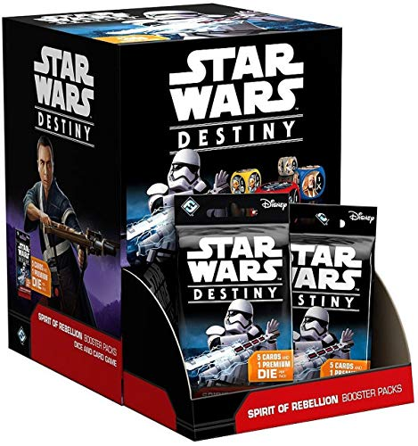"""Fantasy Flight Games Star Wars Destiny - Paquete de ampliación """"Spirit of Rebellion"""" del juego de cartas """",versión inglesa , color/modelo surtido"""