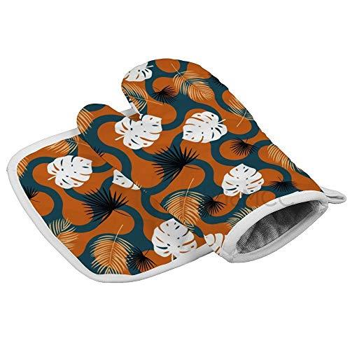 daoyiqi Manopla de horno y agarradera (juegos de 2 piezas), guante de horno y soporte para ollas, juego de alfombrillas avanzadas resistentes al calor, sostenedores de ollas con textura antideslizante