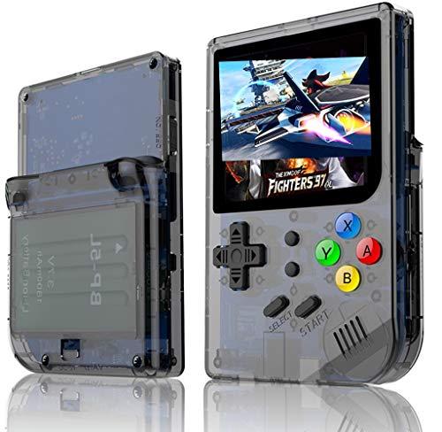 Neutral Videojuegos de 3 Pulgadas Consola Retro de FC portátil Nuevo Juego Retro de BittBoy Juegos de Mano Consola Jugador RG 300 16G + 32G TF 3000 Juegos(Negro)