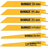 DEWALT Reciprocating Saw Blades, Metal/Wood Cutting Set, 6-Piece (DW4856),Metallic