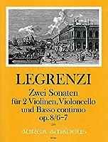 LEGRENZI G. - Sonatas Op.8 nコ 6 y 7 para 2 Violines, Violoncello y BC (Partitura/Partes)