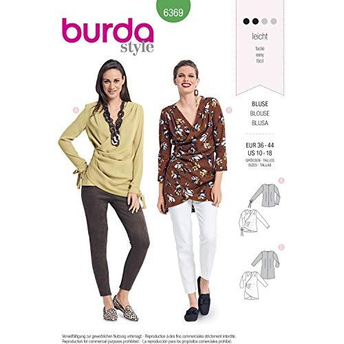 Burda 6369 Schnittmuster Wickeleffekt-Blusen (Damen, Gr. 36-44) Level 2 leicht