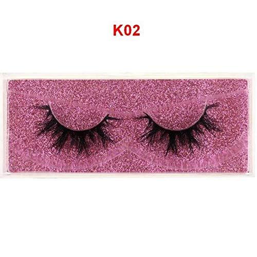 EDK Cils cruauté à la Main Cils 3D Pleine Bande Faux Faux Cils Maquillage Cils, K02
