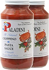 The original and authentic San Francisco Cioppino Pasta Sauce Paladini has been a leader in Seafood since 1857 All Natural. Gluten Free. Flavor to spare! Made in San Francisco in small batches with the very finest ingredients. Two big 26 oz. Jar with...