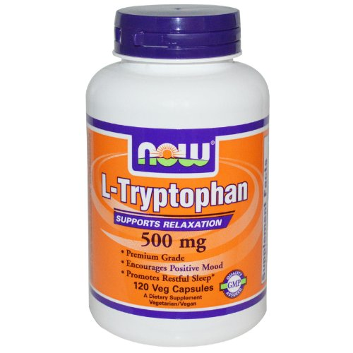 NOW Foods - 500 L-triptófano mg. - 120 cápsulas vegetarianas