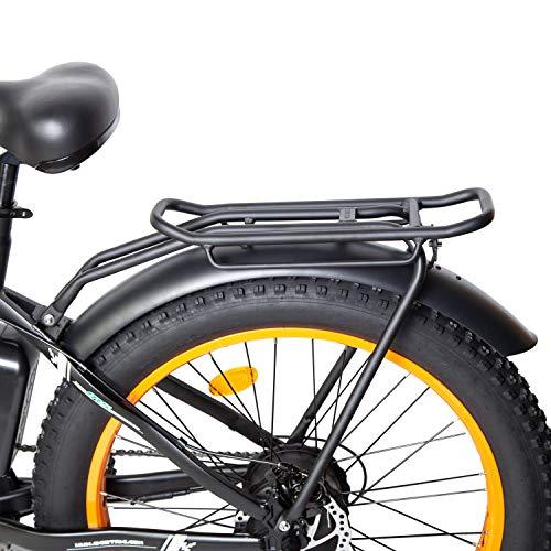 ECOTRIC Rear Rack + Front&Rear Fenders for 26' Fat Tire Ebike, 26' Rocket Ebike