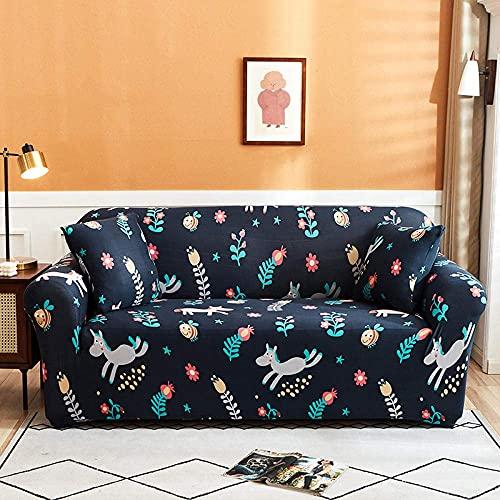 L.TSA Funda elástica para sillón, Funda elástica para sofá seccional elástica Funda para sillón de Esquina en Forma de L-4_190-230cm, Fundas elásticas para sofá Jacquard