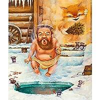木製パズル冬の裸の男大人子供子供のための300ピースジグソーパズル