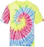 Joe's USA Koloa Surf (tm) Youth Colorful Tie-Dye T-Shirt,M-Neon