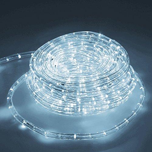 ECD Germany LED Lichtschlauch Lichterschlauch 20 Meter - Kaltweiß 6000K - 36 LEDs/m - Innen/Aussen - IP44 - Lichterkette Lichtband Licht Leucht Dekoration Schlauch Leiste Streifen Strip
