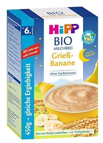 test Hip Haferflockenbrei Bananengrieß 450g vor dem Schlafengehen, Packung mit 2 Stück.  (2 x 450 g) Deutschland