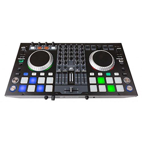 JB Systems de DJ Kontrol 4profesional de 4canales Controlador MIDI Incluye software...