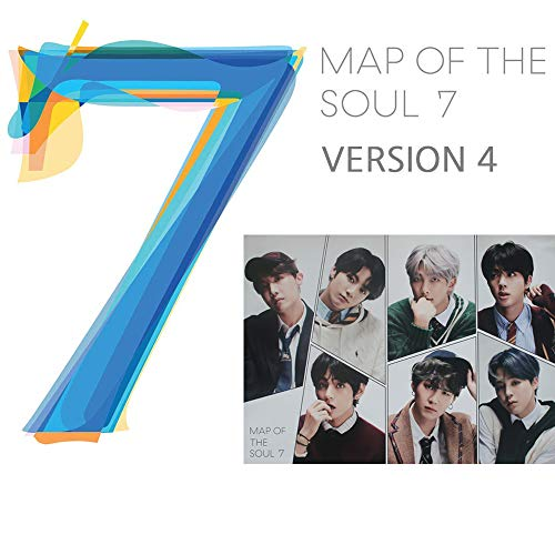 BANGTAN BOYS Map of The Soul : 7 BTS Album PreOrder (Version 4) CD+Official Poster+Photo Book+Lyric Book+Mini Book+Photocard+Postcard+Coloring Paper+Sticker
