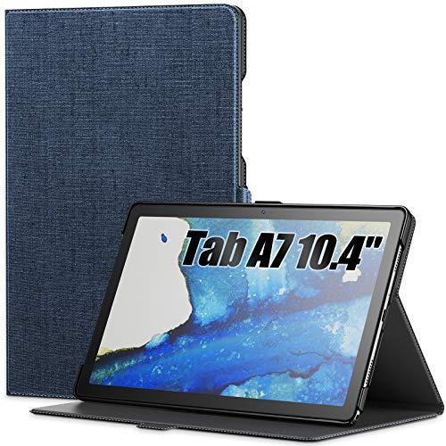 INFILAND Funda para Samsung Galaxy Tab A7 10.4 2020, Soporte Frontal Estuche para Samsung Galaxy Tab A7 10.4 (T500/T505/T507) 2020, Azul Oscuro