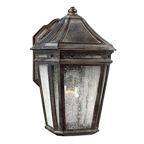 "Feiss OL11300WCT Londontowne Marine Grade Outdoor Patio Lighting Wall Lantern, Bronze, 1-Light (7""W x 11""H) 75watts"