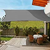 OldPAPA Sun Shade Sail Rectangle Waterproof Sun Shade 95% UV Block Sunscreen Awning Garden Beach Patio Canopy Grey 3x4m