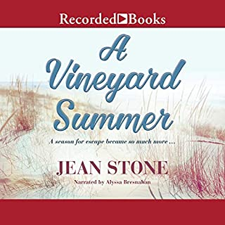 A Vineyard Summer audiobook cover art
