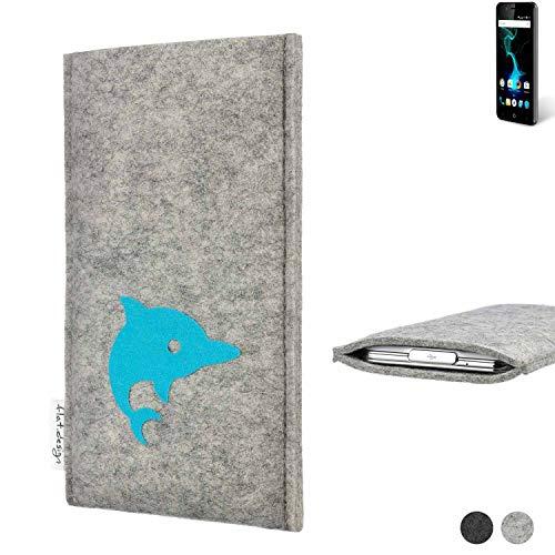 flat.design Handy Hülle für Allview P6 Pro FARO mit Delphin handgefertigte Filz Tasche fair