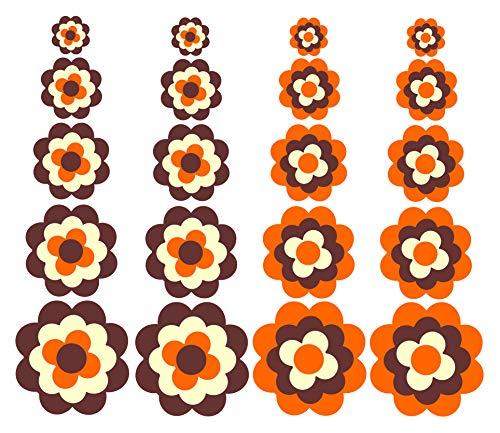 WERBUNGkreativ Aufkleber Autoaufkleber Fliesenaufkleber Wandtattoo Blumen ähnlich Prilblumen Retroblume Pril 20er Set
