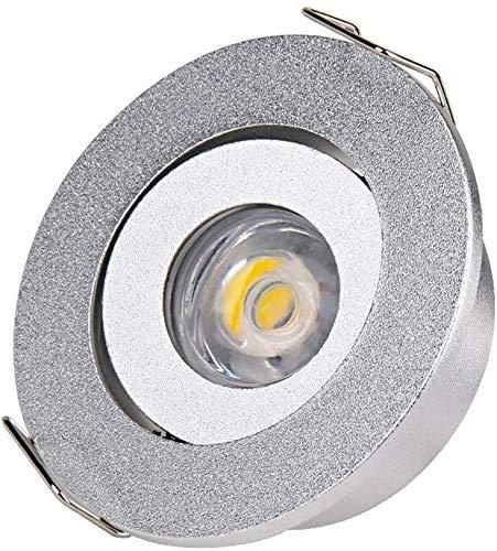 Popertr Mini luz de Ahorro de energía Lámparas de Techo COB Anti-deslumbramiento Empotrado Luces de Techo Super Brillante Embedded Spotlight Spotlights Redondo Embedded Light Light Downlight