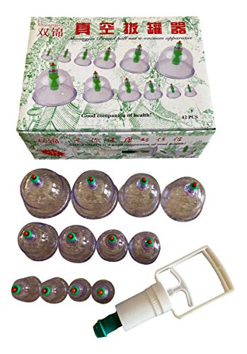 Massage-Saugnäpfe, chinesische Massage, 12 Stück