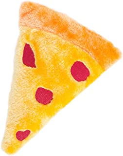ZippyPaws - Squeakie Emojiz Stuffed Plushie Dog Toy - Pizza Slice